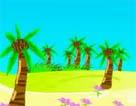 槟榔树下摇网床