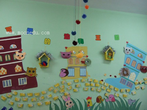 幼儿园实用好看的区角墙面设计?#35745;?#23637;示
