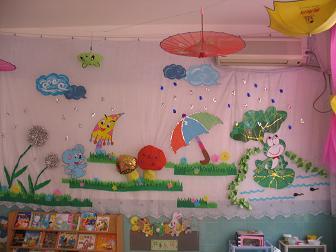 幼儿园环境布置照片 56