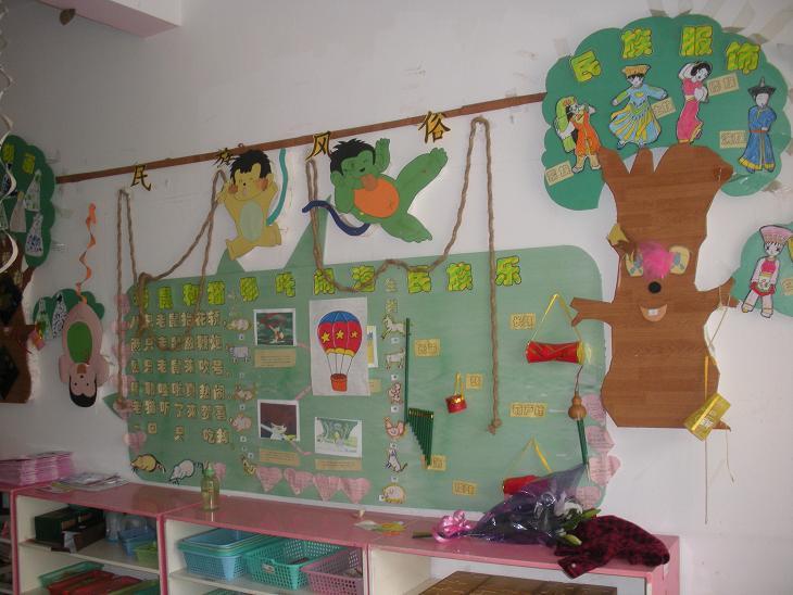 幼儿园走廊装饰:可爱的蓝精灵 幼儿园外墙装饰图 幼儿园吊饰图片:蜜蜂图片
