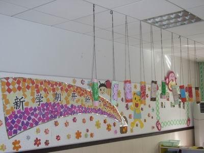 幼儿园环境布置展板_幼儿园环境创设名族风边框_幼儿