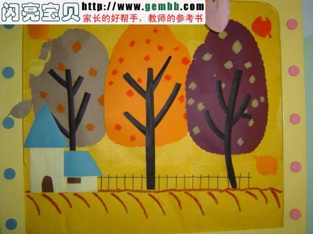 秋天的; 幼儿园环境布置图片 墙面布置-幼儿园设计; 幼儿园布置图片
