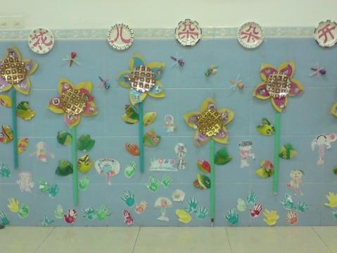 幼儿园的课室布置; 幼儿园中班墙饰布置;