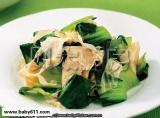 1岁宝宝食谱:豆皮炒青菜