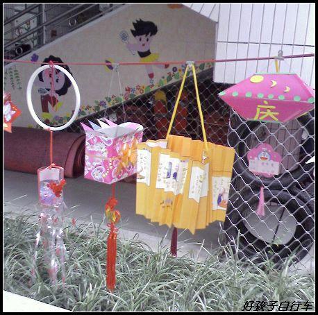 幼儿园手工制作的灯笼展