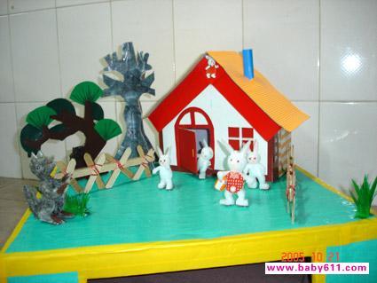 幼儿园吸管制作作品:龙