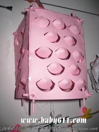 幼儿园教师手工作品:灯笼