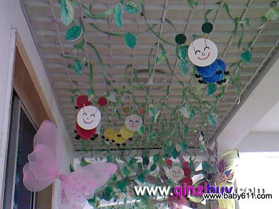 幼儿园春天走廊过道装饰:蝴蝶与蜜蜂