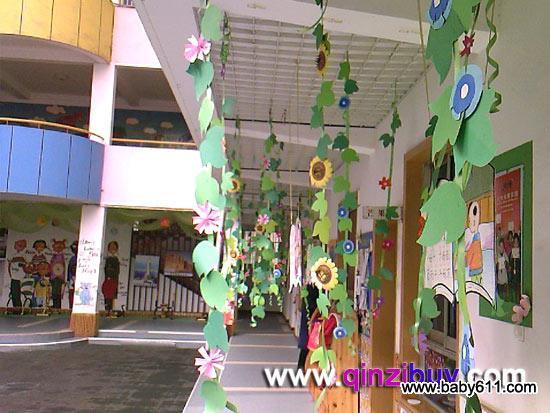 幼儿园春天户外过道走廊装饰:春天的花