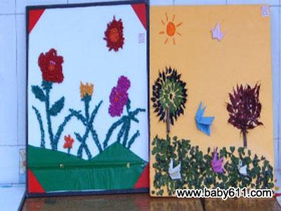 幼儿园六一幼儿手工美术作品 花朵