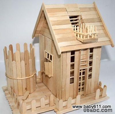 幼儿园幼儿废旧利用手工制作:小房子