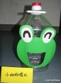 幼sxda园手工废旧物饮料瓶制作:各种漂亮的玩教具