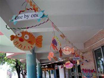 幼儿园走廊吊饰图片:挂饰大全 - 幼儿园环境布置图片