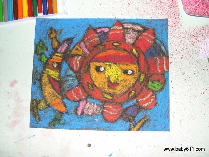 大班幼儿绘画作品 我给地球送祝福