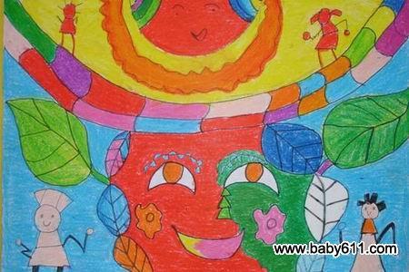 幼儿园兴趣班绘画作品 天晴喽