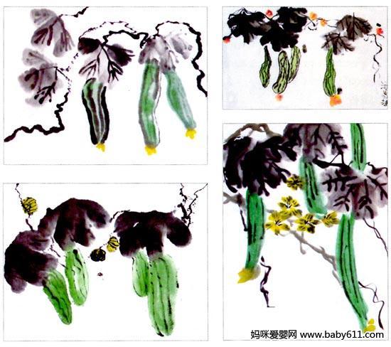 幼儿园大班画画教案设计:丝瓜