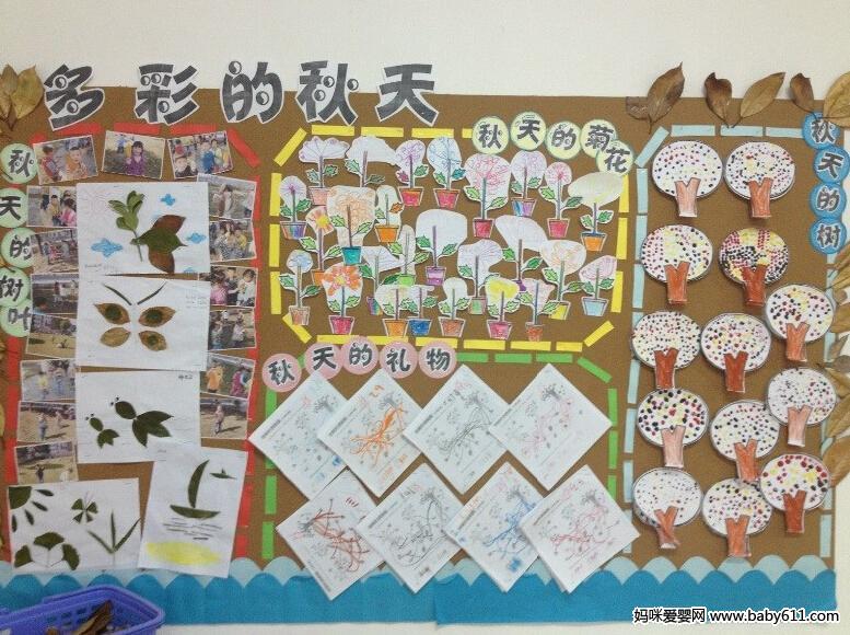幼儿园主题墙:多彩的秋天