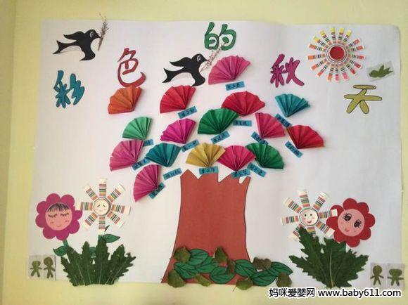 幼儿园主题墙设计:秋天的童话(8)