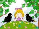 两只小黑鸟
