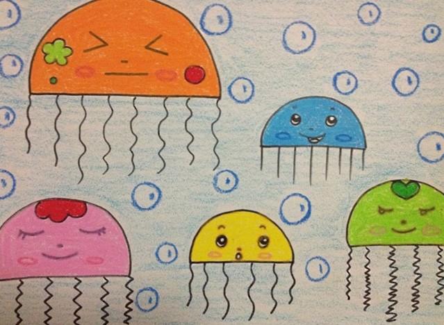 简笔画,幼儿园美术作品