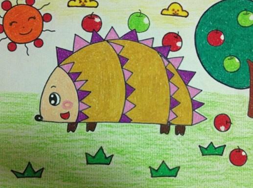 幼儿园幼儿绘画:可爱的小刺猬