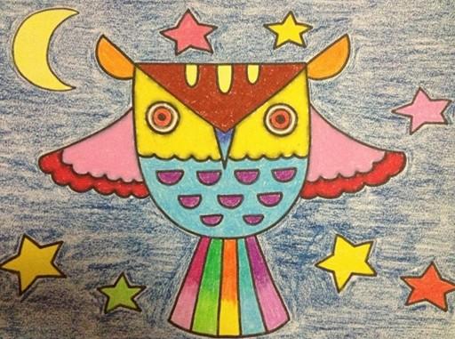幼儿园幼儿美术绘画作品