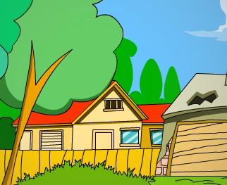 ppt綠色房子圖片