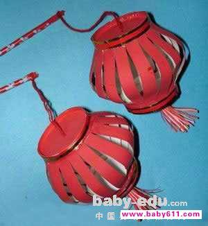 幼儿园小班美术教案:元宵节的灯笼