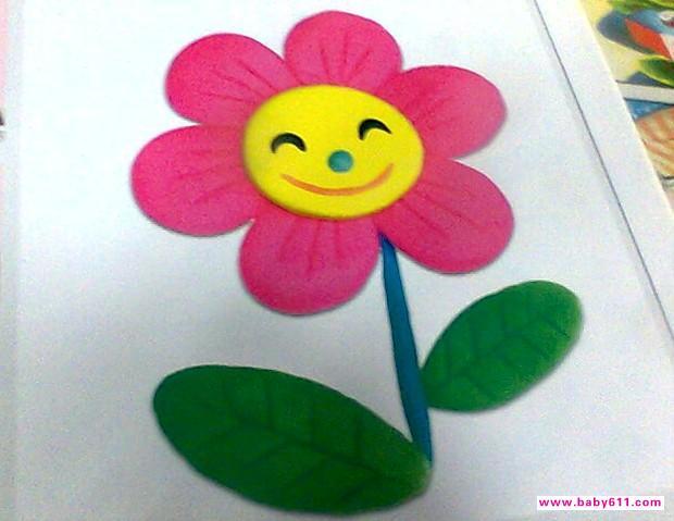 幼儿园橡皮泥手工作品《太阳花》