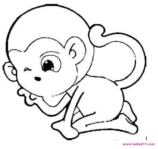 猴子简笔画大全9张第3张