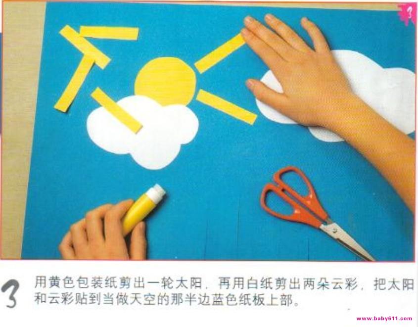 只要按照下面的步骤做,你便可以用纸板和彩纸制作出一个童话村落来为你的生活增添一点儿情趣。 幼儿手工制作教程:童话村最终效果图 幼儿手工制作教程:童话村需要准备的工具及材料 幼儿手工制作教程:童话村需要准备的工具及材料下一页具体制作步骤及方法 幼儿手工制