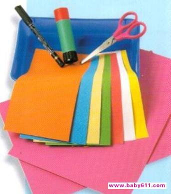 幼儿手工制作教程:长脖子娃娃需要准备的工具及物品