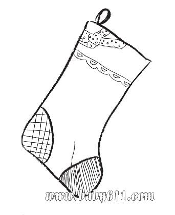 袜子简笔画图片_圣诞袜子简笔画图片