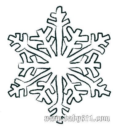 圣诞节涂色卡图片:雪花