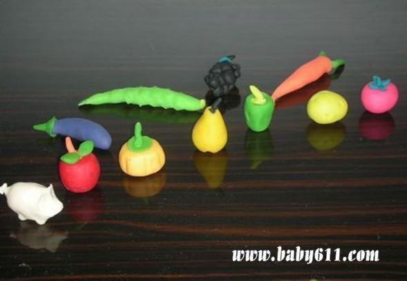 儿童手工橡皮泥作品:蔬菜