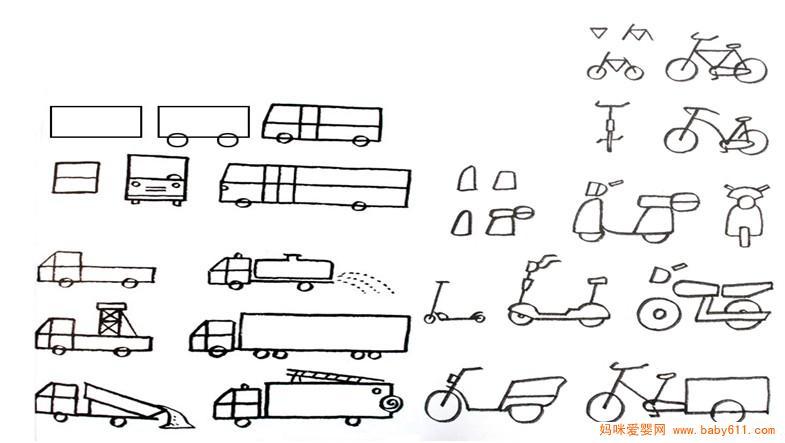 交通工具简笔画的画法
