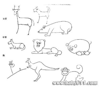 动物简笔画的画法