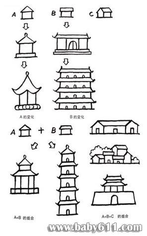 中国传统古建筑栏杆牌匾梁柱彩绘图案精选