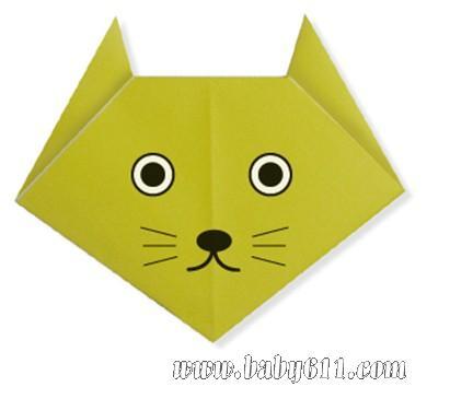 儿童手工折纸:小猫 [教学设计]