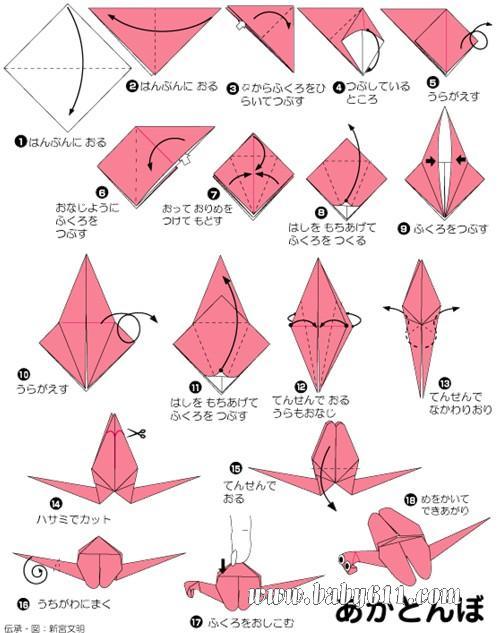 幼儿园手工技能教案 儿童手工折纸  儿童手工折纸:蜻蜓 [教学设计]