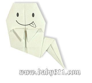 儿童手工折纸:小鬼魂 [教学设计]