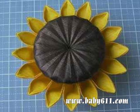 儿童手工折纸 向日葵