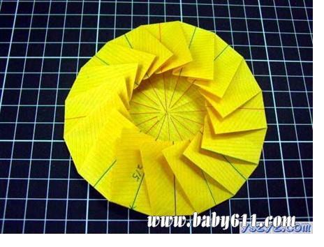 儿童手工折纸:向日葵(4)