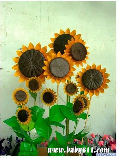 儿童手工折纸:向日葵(12)