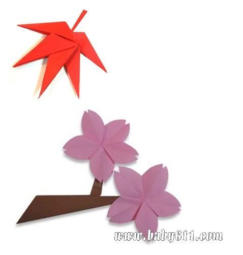 儿童手工折纸 枫叶