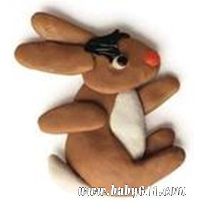 儿童手工橡皮泥:小兔灰灰