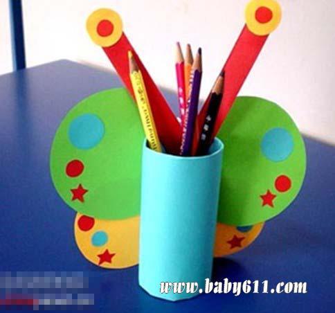 笔筒(废旧卡纸制作的笔筒) - 幼儿手工作品展示