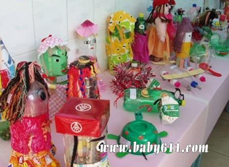 废旧可乐瓶制作的小动物 - 幼儿手工作品展示