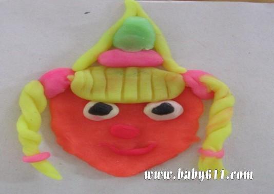 幼儿橡皮泥作品:公主娃娃