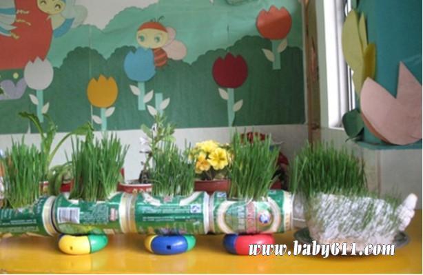 废旧饮料瓶制作:花盆1图片
